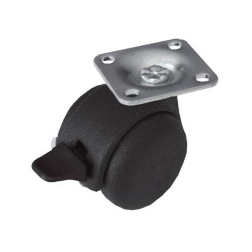 1186 PVC kotač fi 50 mm, sa kočnicom i pločicom,Ferro-pack,Vitez,BiH