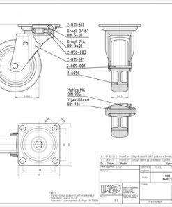 1191 - LIV kotač metalni okretni, fi 75 mm, KG - 50 ; sivi, Ferro-pack