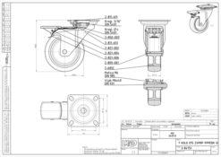 1196 - LIV kotač metalni okretni sa kočnicom, fi 75 mm, KG - 50 ; sivi,Ferro-pack