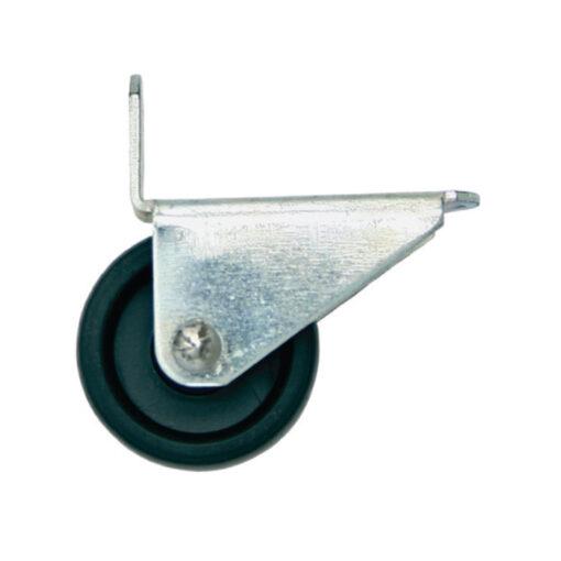 1201 Kotač za ležaj fi 30 mm, sa kosim nosačem, crni - pocinčani,Ferro-pack,Vitez,BiH
