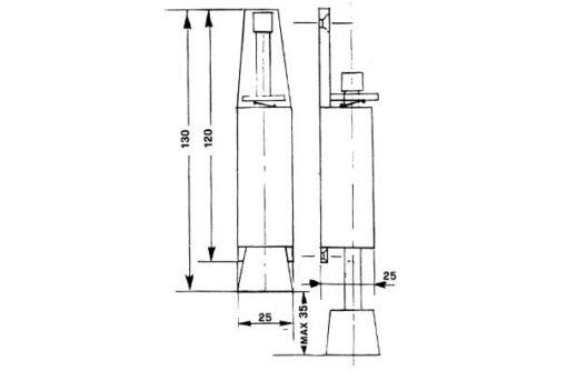 1288 +Stoper za vrata 25 x 130 mm Ferro-pack Vitez BiH