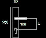 1321 + +Sigurnosni štit 3900 Y+ kugla PSS61 + kvaka F1350 - F1,Ferro-pack