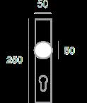 1321 + Sigurnosni štit 3900 Y+ kugla PSS61 + kvaka F1350 - F1,Ferro-pack