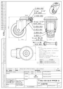 1615+LIV kotač metalni okretni s rupom,Ferro-pack