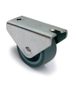 1653 Kotač za ležaj fi 30 mm sivi, sa ravnim nosačem - guma,Ferro-pack,Vitez,BiH