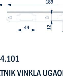 1718+Prihvatnik za bravu - kutni,Ferro-pack