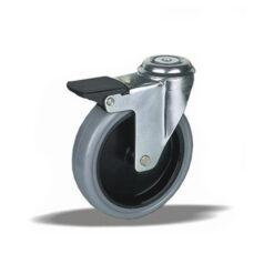 1874 - LIV kotač metalni okretni sa rupom i kočnicom,sivi, Ferro-pack Vitez BiH