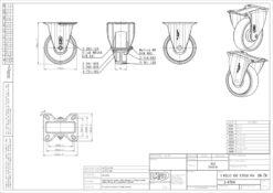 2118+LIV bijeli PVC kotač,Ferro-pack