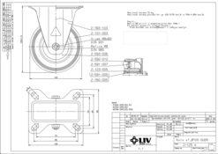 2193 - LIV kotač metalni fiksni, fi 100 mm, KG - 70,Ferro-pack