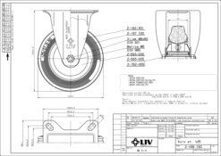 2194 - LIV kotač metalni fiksni, fi 125 mm, KG -100,Ferro-pack