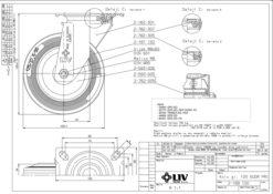 2199 - LIV kotač metalni okretni, fi 125 mm, KG -100,Ferro-pack