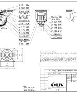 2202+LIV kotač metalni okretni sa kočnicom,Ferro-pack