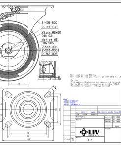 2204 - LIV kotač metalni okretni sa kočnicom, fi 125 mm, KG -100,Ferro-pack