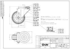 2207+LIV kotač metalni okretni sa rupom,Ferro-pack