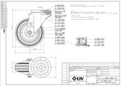 2208 - LIV kotač metalni okretni sa rupom, fi 100 mm, KG - 80,Ferro-pack
