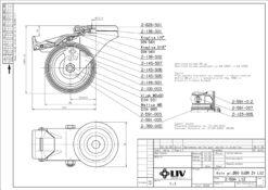 2210 + LIV kotač metalni okretni sa rupom i kočnicom,Ferro-pack