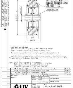2214 - LIV kotač sa plastičnom felugom, bez osovine, fi 100 mm, KG - 80,Ferro-pack