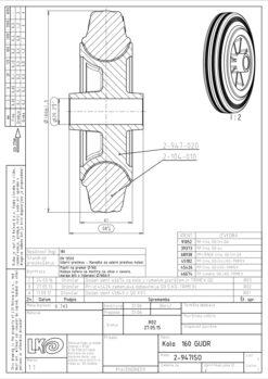 2216 - LIV kotač sa plastičnom felugom, bez osovine, fi 160 mm, KG - 180,Ferro-pack