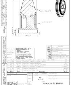 2217 - LIV kotač sa plastičnom felugom, bez osovine, fi 200 mm, KG - 230,Ferro-pack