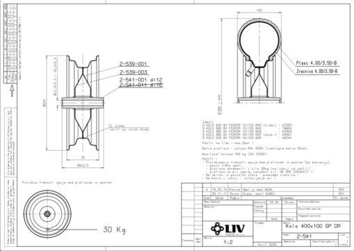 2246+Rezervni kotač za radna kolica - LIV,Ferro-pack