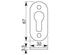 2360 ++ Kvaka za metalna vrata, IBFM,Ferro-pack