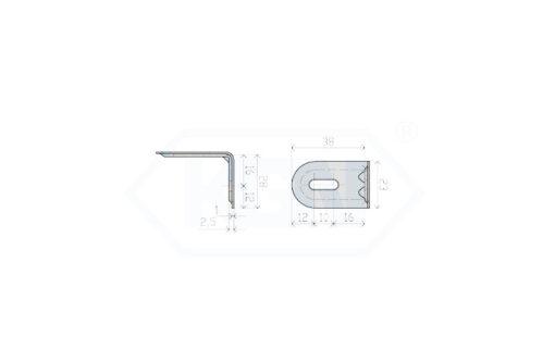 1109 - Kutnik 2 mm 23 X 28 X 38,Ferro-pack