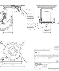 2535 - LIV kotač okretni temperaturno otporni, fi 80 mm,Ferro-pack