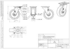 2536+LIV kotač metalni okretni.poliur,Ferro-pack