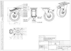 2538+LIV kotač metalni okretni sa koč-pliuretan,Ferro-pack