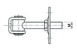 2568+Regulirajuča baglama za teška vrata sa pločom M 16 (za zid),Ferro-pack,Nacrt