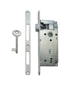 2627 Brava za drvena vrata sa prihvatnikom TAS 6,5 cm,ključ,Ferro-pack