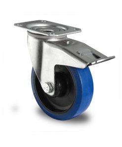 2641 CASCOO kotač sa kočnicom superelastic-plavi poliamid,Ferro-pack,Vitez,BiH