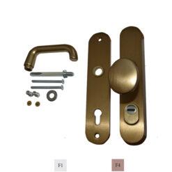 2664 Sigurnosni set kvaka PKS + kugla, sa vanjskim ojačanjem cilindra, F4,fERRO-PACK,vITEZ,bIh