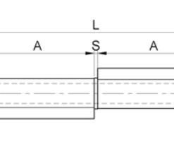 2683++Baglama za metalna vrata za tešku nosivost sa ušima 9 x 100 mm,Ferro-pack