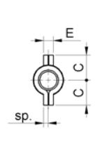 2683+Baglama za metalna vrata za tešku nosivost sa ušima 9 x 100 mm,Ferro-pack