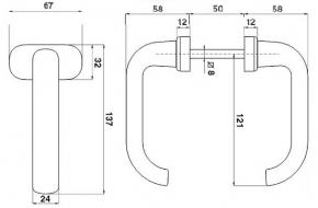 2996 + PVC kvaka za metalna vrata, ovalna- crna - IBFM,Ferro-pack
