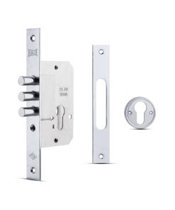 3072 KALE dodatna sigurnosna brava za drvena i metalna vrata, cilindar, 3 šipa, nikl Ferro-pack Vitez BiH