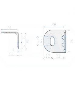 1108 - Kutnik 2 mm 30 x 28 x 28,Ferro-pack