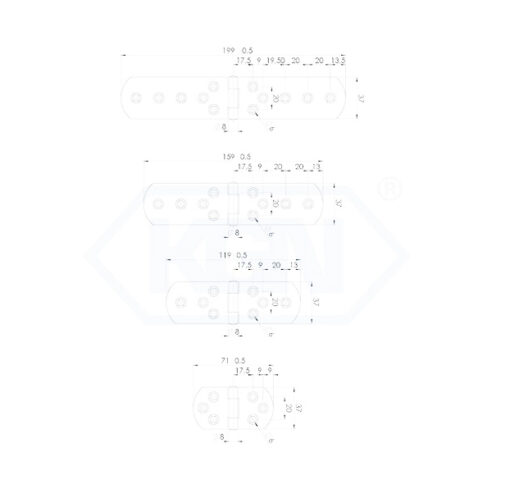 1130 - Baglama simetrična 37x L simetricna,Ferro-pack