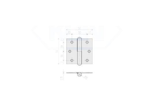 1141 + Baglama rastavljiva 50x50 L in 50x50 D,Ferro-pack