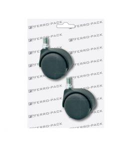 P2094 PVC kotač fi 35 mm, sa čepom, crni ; 2 kom,Ferro-pack,Vitez,BiH