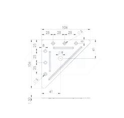 Nosač trokutni 110 x 110 x 1,5 mm,Ferro-pack