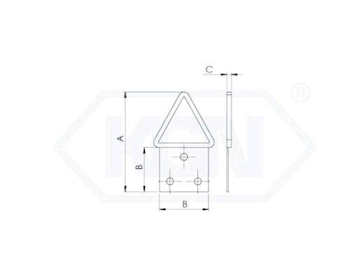 2649 - Nosač slike trokutni.trokut za -slike,Ferro-pack