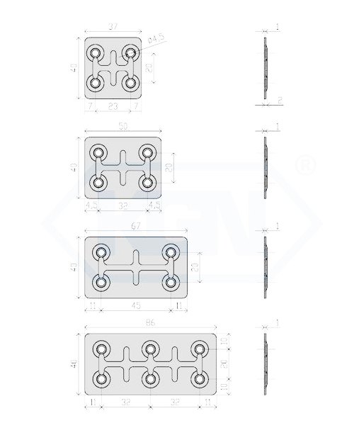1113 - Vezna pločica 37xL,Ferro-pack