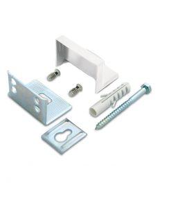 1169 Nosač visečih elemenata, kutni, bijeli, set,Ferro-pack