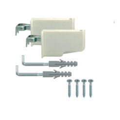 1170 Nosač visečih elemenata, ravni, bijeli - par, set,Ferro-pack