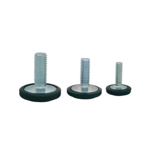 1205 Nogica nastavljiva fi 21, M6 X 20 mm, crna - pocinčana,Ferro-pack