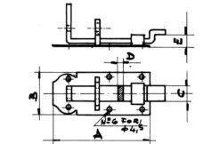 1283 + Zasun za katanac 45 x 120 mm, krivi,Ferro-pack