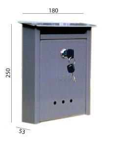 2049 + Poštanski sandučić TIP 2 - sa krovom, manji,Ferro-pack