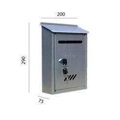 2050 + Poštanski sandučić TIP 3 - sa krovom, veči,Ferro-pack